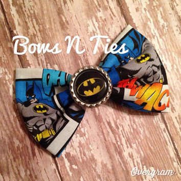 Superhero hipster geek hair bow