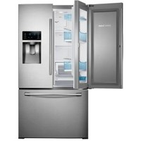 Samsung, 27.8 cu. ft. French Door Refrigerator in Stainless Steel with Food Showcase Design, RF28HDEDBSR at The Home Depot - Mobile