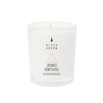 Japanese Honeysuckle Scented Candle, Soy Wax, Hand poured, made to order, 40 hour burn time, Black Arrow Candles