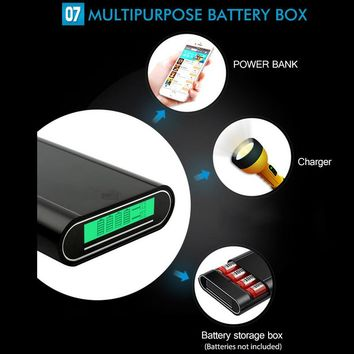 18650 Battery Charger with Power Bank Function Dual USB Port 5V 1A/2A Professional Universal Rechareable Batteries Chargers