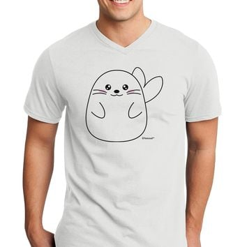 Cute Seal Adult V-Neck T-shirt by TooLoud