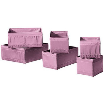 2 X Ikea Skubb Storage Box Set of 6, Drawer Organizers, purple, Multi-use