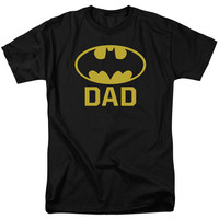 Batman Men's  Bat Dad T-shirt Black