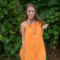 Sideline Sweetheart Dress in Orange