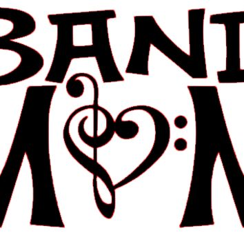 Band Mom Silhouette Vinyl Decal Sticker