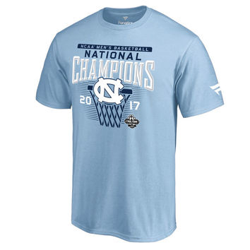 Fanatics Branded North Carolina Tar Heels Carolina Blue 2017 NCAA Men's Basketball National Champions Saguaro T-Shirt