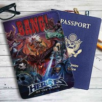 Heroes Of The Storm Bang Leather Passport Wallet Case Cover