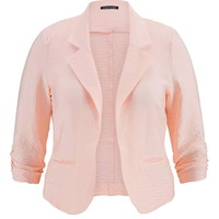 Plus Size - Blush Blazer With Textured Fabric - First Blush