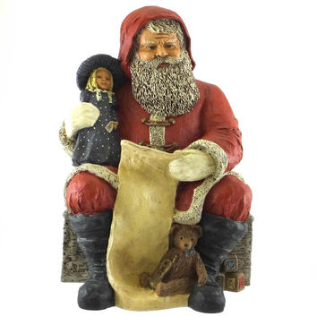All Gods Children Santa  Claus White Figurine