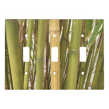 Bamboo Garden Floral Light Switch Cover