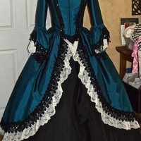Gothic Steampunk Pirate Marie Antoinette Gown Custom Color/Size