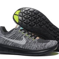 """Nike Free Rn Flyknit 5.0"" Men Sport Casual Fly Knit Multicolor Sneakers Running Shoes"