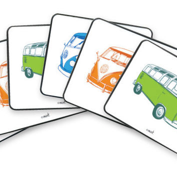 Retro Combi Van Coaster Set