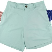Freedom Shorts in Light Teal Blue by Blankenship Dry Goods - FINAL SALE