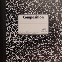2 Pack Composition Notebooks by Norcom Wide Ruled New