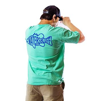 Gettin' Fishy Tee Shirt in Island Reef Green by Waters Bluff