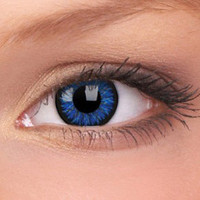 Blue Glamour Contact Lenses (Pair) | Coloured Contact Lenses