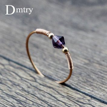 Dmtry Design Fashion Jewelry 2018 New Cute Romantic Brand Crystal Rose Gold Wedding Engagement Ring For Women Men Gift CR0032