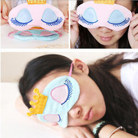 1 Pcs Crown Travel Sleep Rest Mask Eye Shade Sleeping Cover Blinder Blindfold ls