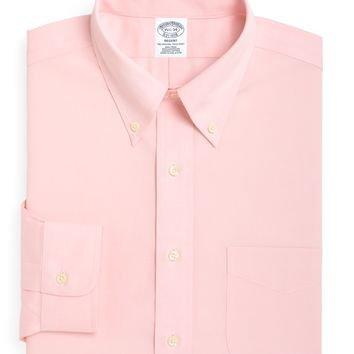 Men's Non-Iron Slim Fit Button-Down Collar Dress Shirt | Brooks Brothers