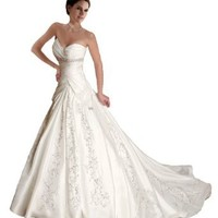 Faironly J5 White Ivory Sweetheart Wedding Dress Bride Gown