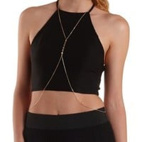 Gold Coin Embellished Body Chain by Charlotte Russe