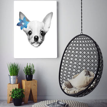Free to Dream Chihuahua art, chihuahua wall art, chihuahua print, animals wall art, animals printable art, printable art, home decor art