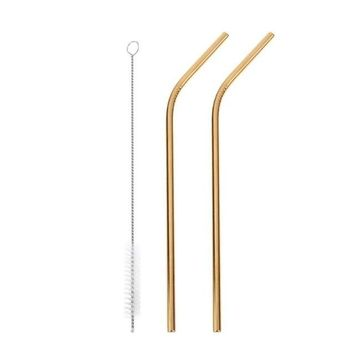 Stainless Steel Straws - Gold