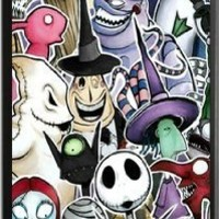 Customize Cartoon Nightmare Before Christmas Back Case for iphone 5C JN5C-1693