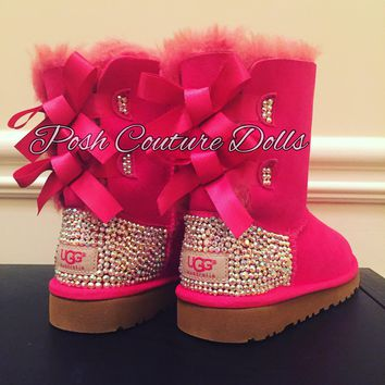 Custom Bling Bailey Bow UGG Boots