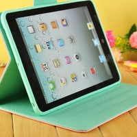Contrasting Colors Wallet Case for iPad mini
