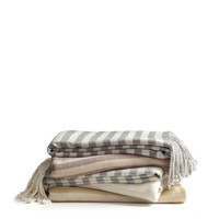Striped Bamboo Throw