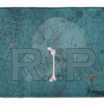 RIP Rest in Peace with spider web Halloween Machine Washable Memory Foam Mat SB3004RUG