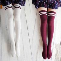 New College Wind Thigh High Socks Stockings Over The Knee Girls Womens Newest