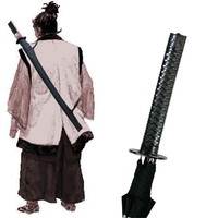 Black Samurai Sword Kantana Umbrella Ninja