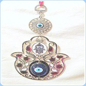 Fatima Flower Evil Eye Hanging