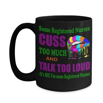 Funny Mug Gift for RN, Lpn, pa, cna, personalized medical school graduation gift, gift for registered nurse, medical street wear RNs cuss too much