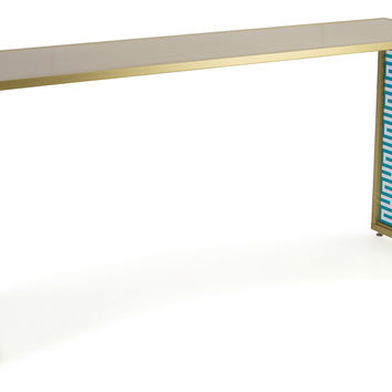 Tribeca Console, Turquoise, Console Table