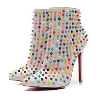 Christian Louboutin Women Fashion Casual Heels Shoes Boots-6