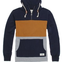 Rusty Coltrane Quarter Zip Hoodie - Mens Hoodie - Blue