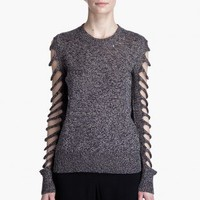 ALEXANDER WANG MARLED SLIT SLEEVE PULLOVER