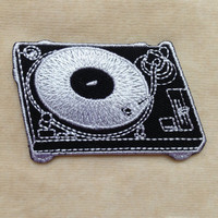 CD Player Iron On Patch