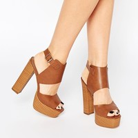 London Rebel Platform Heeled Sandals at asos.com