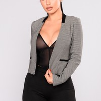 Let's Get Serious Blazer - Black/White