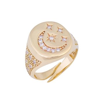 Crescent Pinky Ring
