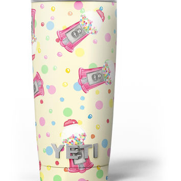 The Fun Colorful Gumball Machine Pattern Yeti Rambler Skin Kit