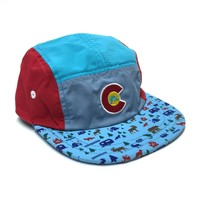 KIDS HAPPY CAMPER 5 PANEL HAT - NOW IN 2 SIZES!