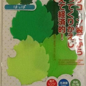 reusable silicon leaf bento lunch box separater, set of 4