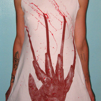 FREDDY KRUEGER: Bloody Glove Womens Handmade Dress