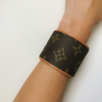 Large Louis Vuitton Upcycled cuff